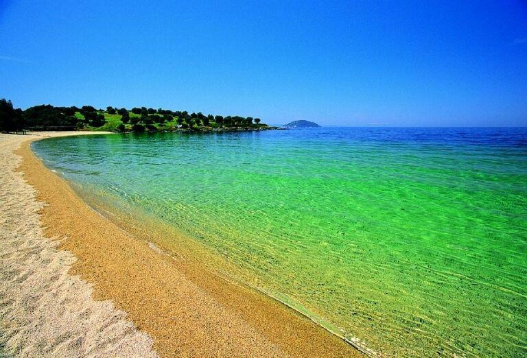 Koho pláž, Chalkidiki, Grécko