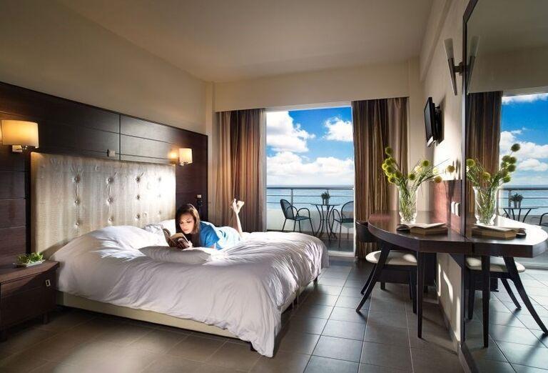 Izba s výhľadom na more v hoteli Blue Dream Palace