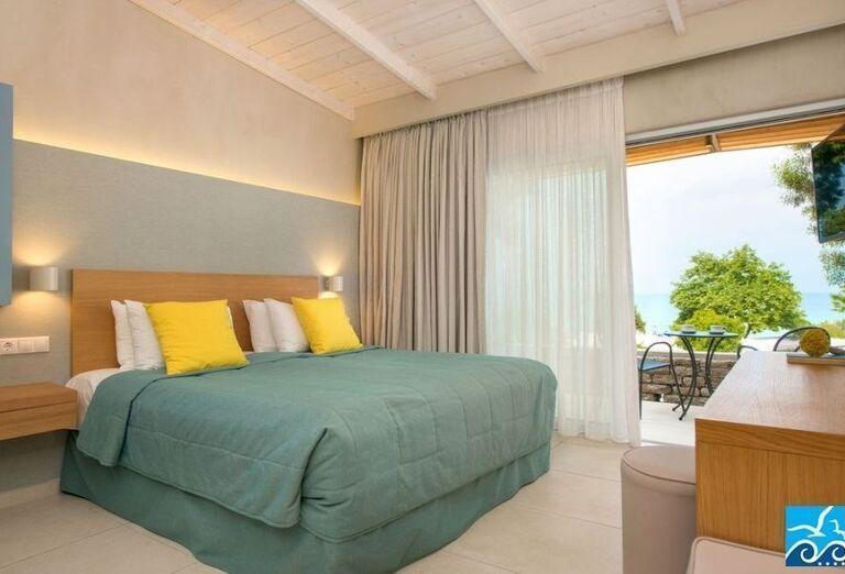 Izba s výhľadom na more v hoteli Makryammos Bungalows