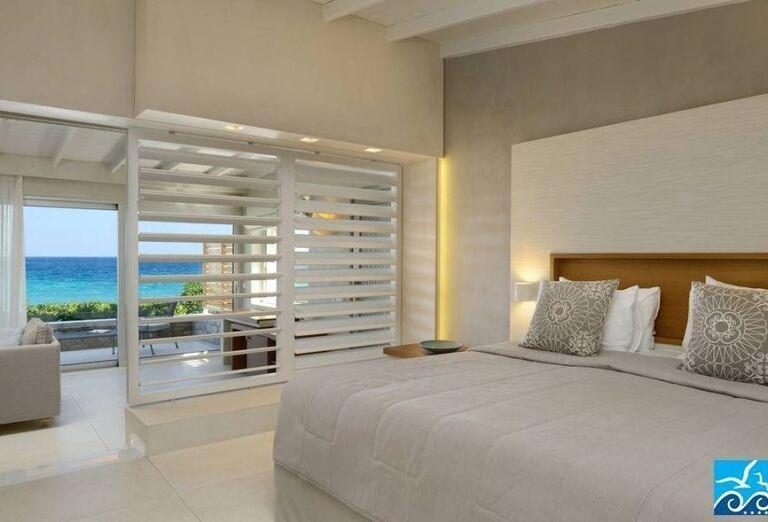 Izba hotela Makryammos Bungalows s výhľadom na more