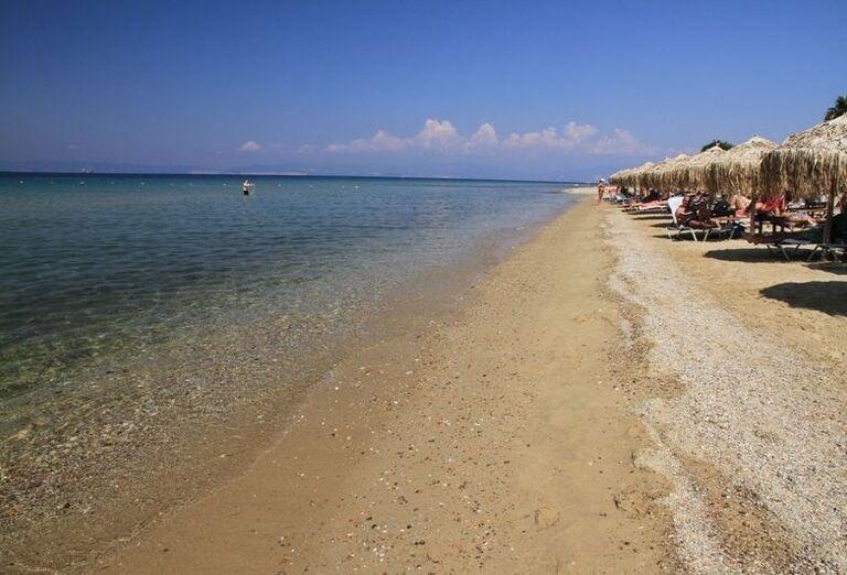 Pláž hotela Ilio Mare, Skala Prinos, Thassos