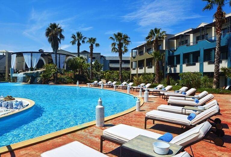 Thassos, Skala Prinos, hotel Ilio Mare, bazén