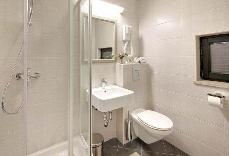 Kúpeľňa v apartmánoch Sol Amfora