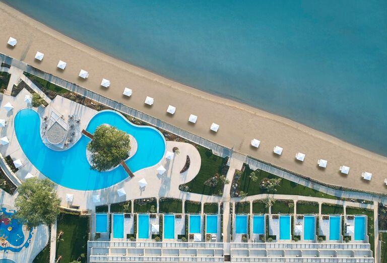 Pláž Hotel Ikos Dassia *****