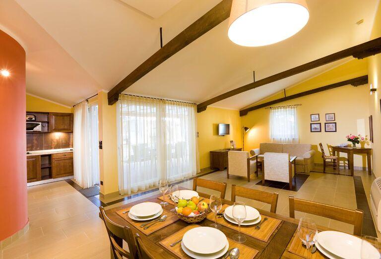 Interiér vilky Classic v resorte Melia Istrian Villas